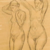 Куно Амье. Две обнаженные женщины