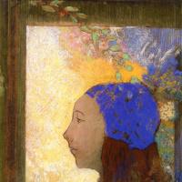 Девушка в голубом чепце