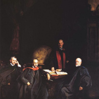 Professors Welch, Halsted, Osler and Kelly (Four doctors)