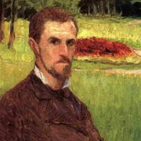 Гюстав Кайботт. Автопортрет в парке в Йере