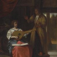 Питер де Хох. Музицирующее трио в интерьере