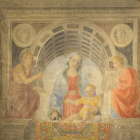 Madonna and Child, Saint John the Baptist and John the Theologian (Madonna with Carpet)