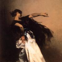 """Джон Сингер Сарджент. Испанская танцовщица. Эскиз для """"Эль-Халео"""""""