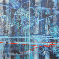Emancipation of a spirit, diptych, both parts, from #BOTANY artworks series.