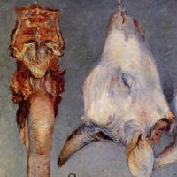 Гюстав Кайботт. Голова теленка и язык вола