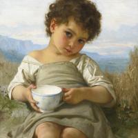 Адольф Вильям Бугро. Чашка молока