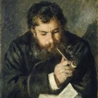 Пьер Огюст Ренуар. Клод Моне за чтением