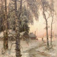 Юлий Юльевич Клевер. Зимний пейзаж