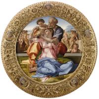 """Микеланджело Буонарроти. Святое семейство, известное как """"Тондо Дони"""""""