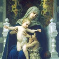 Адольф Вильям Бугро. Мадонна с младенцем Иисусом и Святой Иоанн Креститель