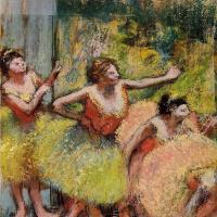 Эдгар Дега. Балерины в зеленом и желтом