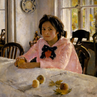 Girl with peaches (Portrait of V. S. Mamontova)