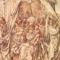 Мадонна с ангелами под балдахином