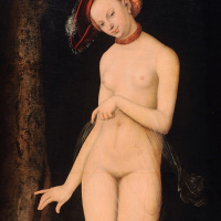 Lucas Cranach the Elder. Venus and Cupid stealing honeycomb