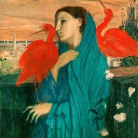Эдгар Дега. Молодая женщина с ибисами