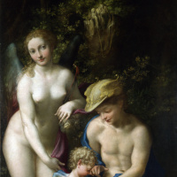 Venus with mercury and Cupid