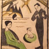 Габриель Мюнтер. Дизайн плаката для выставки Габриель Мюнтер в Копенгагене