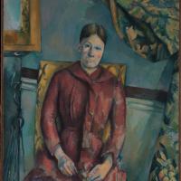 Paul Cezanne. Portrait of Madame Cezanne in a yellow chair
