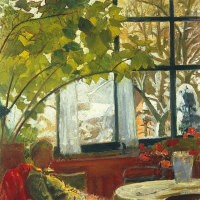 Cuno Amiè. Interior with seated Mrs. Amie