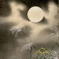 Охара Косон. Цветы при луне