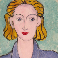 Henri Matisse. A young woman in a blue blouse