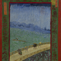 Bridge in the rain (inspired by Hiroshige)