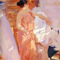 После купания, или Розовый халат