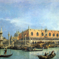 Вид на собор Святого Марка и Дворец дожей в Венеции