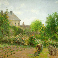 Камиль Писсарро. Сад художника в Эраньи