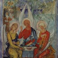 Кузьма Сергеевич Петров-Водкин. Троица. Эскиз росписи на стекле