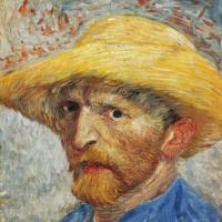 Автопортрет в соломенной шляпе