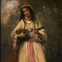 Камиль Коро. Цыганочка с мандолиной