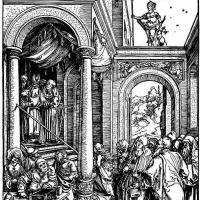 Альбрехт Дюрер. Введение Девы Марии во храм