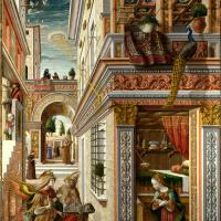 Карло Кривелли. Благовещение со святым Эмидием в Асколи Пичено