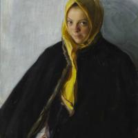 Иван Семенович Куликов. Девушка в желтом платке