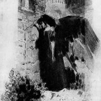 Михаил Александрович Врубель. Демон у ворот монастыря. Иллюстрация к поэме М.Ю. Лермонтова «Демон»