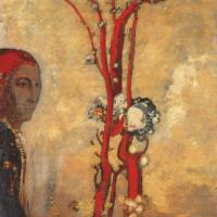Одилон Редон. Красное дерево