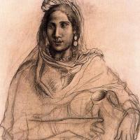 Женщина, держащая вазу