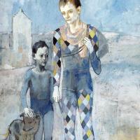 Пабло Пикассо. Два акробата с собакой