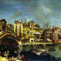 Микеле Мариески. Мост Риальто в Венеции
