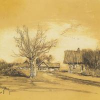 Spring in the village (Savvinskaya Sloboda near Zvenigorod)