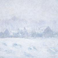 Effet de neige à Giverny