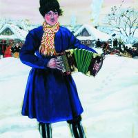 Boris Mikhailovich Kustodiev. Village carnival (Accordion)