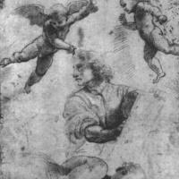 Даниил и ангел. Этюд для мозаик Капеллы Киджи