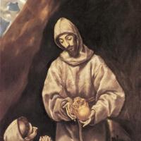 Эль Греко (Доменико Теотокопули). Святой Франциск и брат Лео, размышляя о смерти