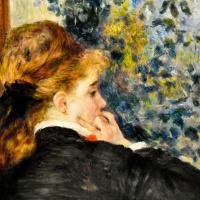 Пьер Огюст Ренуар. Задумчивая, или Молодая женщина в профиль