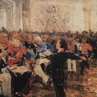 А. С. Пушкин на акте в Лицее 8 января 1815 года. Эскиз