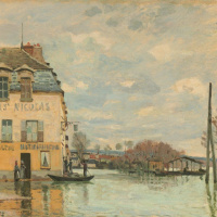 Alfred Sisley. Flood at port-Marly