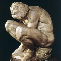 Микеланджело Буонарроти. Скорчившийся мальчик