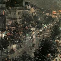 Konstantin Alekseevich Korovin. Paris by night. Italian Boulevard